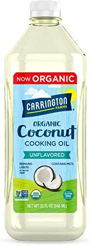 Carrington Farms gluten free, hexane free, NON-GMO, free of hydrogenated and trans fats in a BPA free bottle, liquid coconut cooking oil, unflavored, 32oz (ounces)