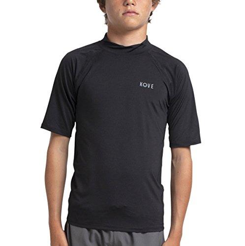 Kove Mowgli Rashguard Recylced Kids/Boy's Quick Dry 4 Way Stretch Swim T-Shirt UPF50 11/12 Black