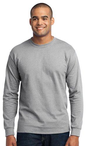 Port & Company Men's Tall Long Sleeve 50/50 Cotton/Poly T Shirt 2XLT ()