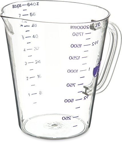 Carlisle 43144AF07 Commercial Plastic Measuring Cup, 1/2 Gallon, Purple by Carlisle