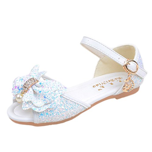 JTENGYAO Baby Grils Dress Up Princess Shoes Flat Open Toe Shoes Wedding Party Shoes Sandals by JTENGYAO
