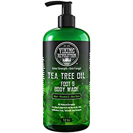 Antifungal Tea Tree Wash for Men – Helps Athlete's Foot, Toenail Fungus, Jock Itch, Eczema, Ringworm & Body Odors – Extra Strength Men's (Body Wash)