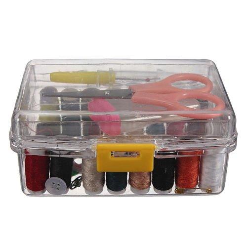 Sewing Kits Repair Travel Case Thread Threader Needle Tape Measure Scissor Thimble Storage Box Organizer Sewing Kit Supplies Set Simple 10.5cm X 6.5cm X 5cm