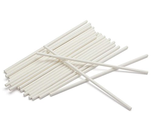 100pcs 6 Inch Long Paper Lolly Pop Sticks Cookie Sticks Lollipop Sucker Sticks for Cake Pops Candy Craft Chocolate DIY Hand Crafts (Lolly Candy Craft)