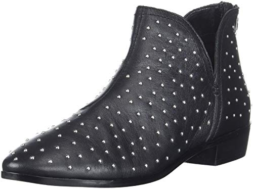 Kenneth Cole REACTION Women's Loop There it is Flat Ankle Bootie Boot, Black Studded, 8 M US