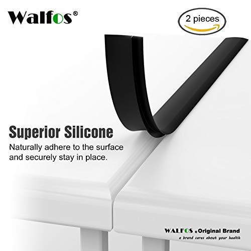 WALFOS Kitchen Cor Against Opening Cap Easy To Cl Heat Resistant Wide Long Gap Filler Leaks Between Counte: Black