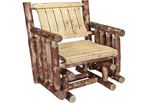 Montana Woodworks Glacier Country Collection Single Seat Glider, Exterior Stain Finish -