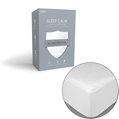 Fashion Bed Group Sleep Calm Mattress Protector with Stain and Dust Mite Defense, ()