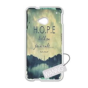 Hold on pain ends HTC One M7 Protective Case, Hold on pain ends DIY Case for HTC One M7 at WANNG