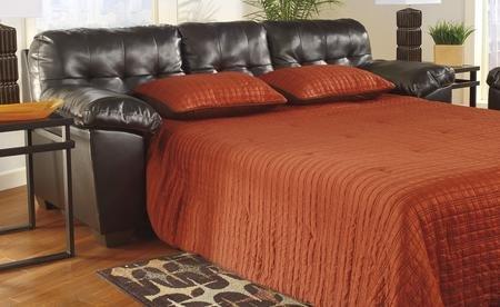 Ashley Furniture Signature Design - Alliston Sleeper Sofa - Queen Size - DuraBlend Upholstery - Contemporary - Chocolate