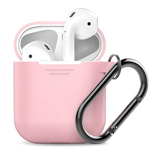 AhaStyle Premium Silicone Case Full Protective Cover Skin Compatible with Apple AirPods- Pink