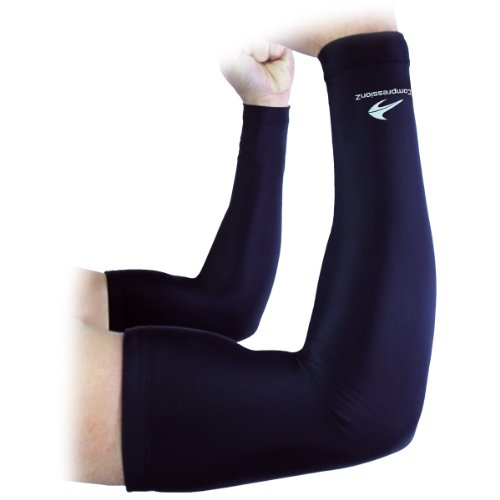 Arm-Sleeves-1-Pair-Compression-Men-Women-Youth-Basketball-Shooter-Sleeve-Best-Protection-for-Lymphedema-Elbow-Warmers-for-Football-Baseball-Running-Volleyball-Athletic-Sports