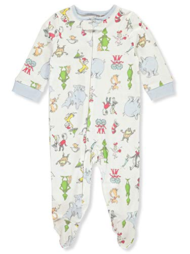 Dr. Seuss Baby Boys' Footed Coverall - Cream, 3-6 Months