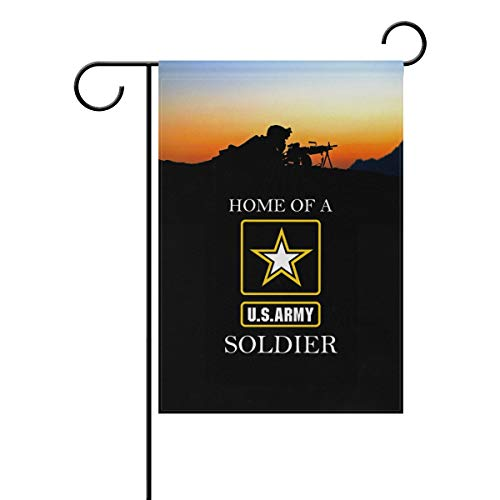 - poeticcity US Army Home of A US Army Soldier Home Decorative Outdoor Two-Sided Garden Flag 12