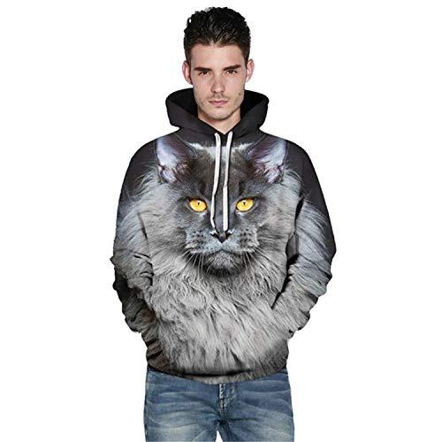 Rankei Fashion Hoodie Sweatshirts 3D Cat Print Unisex Hooded Jacket,Medium,AsShow by Rankei outerwear
