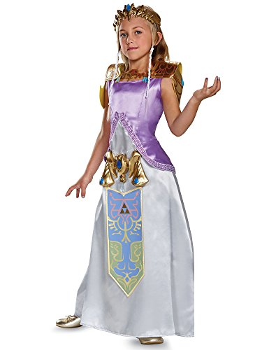 Zelda Deluxe Legend of Zelda Nintendo Costume, Medium/7-8 -