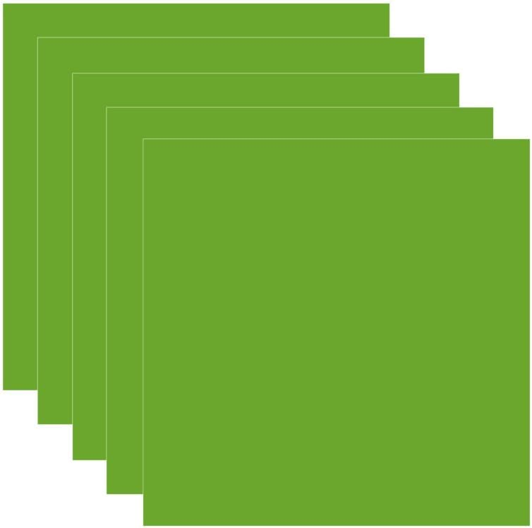 """Lime Green (glossy) 5-pack of adhesive vinyl sheets - 12""""x12"""" outdoor/permanent - VinylxSticker"""