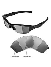 Walleva Transition Polarized Replacement Lenses for Oakley Flak Jacket