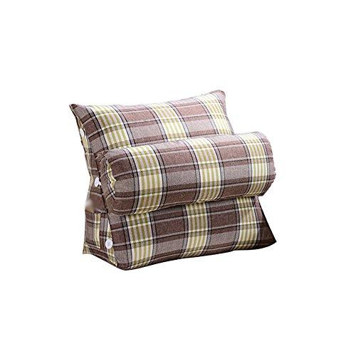 XUE Triangle Bedside Large Backrest Cushions Adjustable, Linen Sofa Neck Pad Size L H 60X50CM ()
