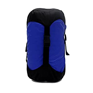 GoBackTrail COMPRESSION STUFF SACK – Water Resistant Polyester – Shrinks Bulky Items - Great for Clothes Sleeping Bags Camping Hiking Backpacking Hunting Travel Motorcycles