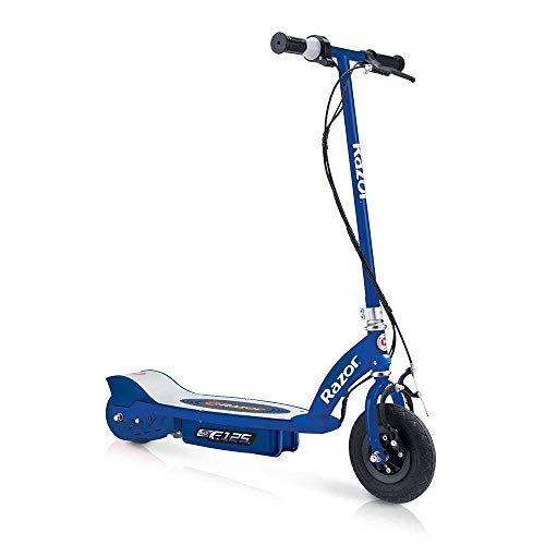 Razor E125 Motorized 24-Volt 10 MPH Rechargeable Kids Electric Scooter, Blue (Kids Scooter Motor For Razor)