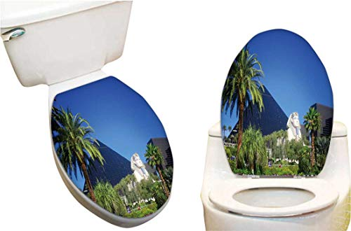 Toilet seat Sticker Luxor Casino on Las Vegas Strip Toilet Seat Sticker Vinyl Toilet Lid Decal Decor13 x15.5