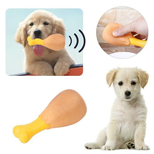 Bazzano Pet Squeak Chew Toy Funny Chicken Leg for Small Larg