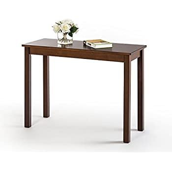 kitchen console table large zinus espresso wood console table amazoncom parsons table canyon walnut kitchen dining