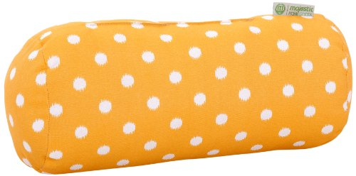Majestic Home Goods Ikat Dot Round Bolster Pillow, Citrus Dot Bolster Pillow