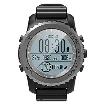 Hauggen1 GPS Reloj para Correr Deportes al Aire Libre Reloj de Acero Inoxidable Reloj multifunción Modo de Entrenamiento Distancia Calorías Velocidad ...