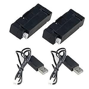 generic 2pcs 3. 7V bateria LiPo y 380mAH 2pcs cable cargador para JJRC JJR/C H37 Mini Baby Elfie quadcopter