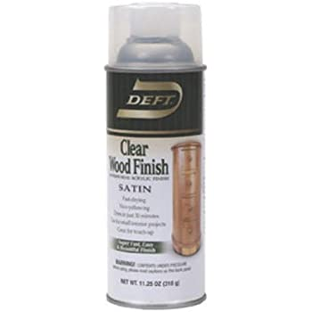 Deft 037125017132 Interior Clear Wood Finish Satin Lacquer