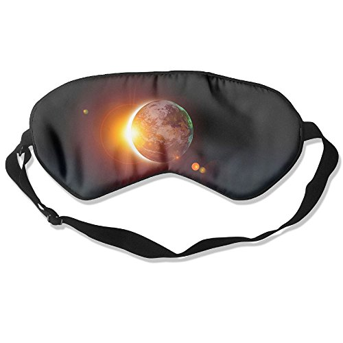 Price comparison product image Comfortable Sleep Eyes Masks Solar Eclipse Sun Love Design Sleeping Mask For Travelling, Night Noon Nap, Mediation Or Yoga