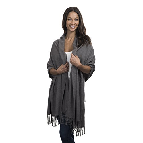 377a32d1d Cashmere & Class Large Soft Cashmere Scarf Wrap – Womens Winter Shawl +  Gift Box (