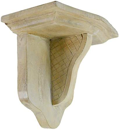 CinMin Handcarved Wood Corbel Bracket and Floating Stand