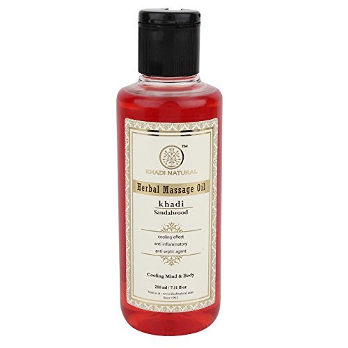 Khadi Natural Herbal Ayurvedic Sandalwood Massage Oil for all Skin Types (210 ml) (Ship from India)