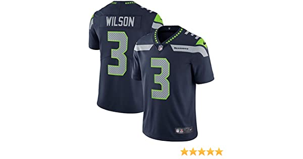 more photos 7746d 6a3f6 NIKE Men's #3 Russell Wilson Seattle Seahawks Limited Jersey Navy Blue