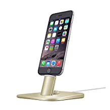Spinido TI-SET Luxury Adjustable Desktop Charging Dock Stand for iPhone 6S/6S /iPad mini and Samsung Galaxy Tab S6 and Android smart phones With 2 Kinds of USB cables (Luxury Gold)