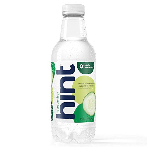 Hint Water Cucumber (Pack of 12) 16 Ounce Bottles Pure Water Infused with Cucumber Zero Sugar Zero Calories Zero Sweeteners Zero Preservatives Zero Artificial Flavors