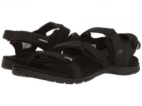 任命任命寄生虫New Balance(ニューバランス) レディース 女性用 シューズ 靴 サンダル Maya Leather Sandal - Black 7 B - Medium [並行輸入品]