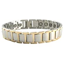 Men's Sport's Stainless Steel Magnetic Bracelet with High Gauss Powerful Magnets