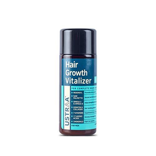 USTRAA Hair Growth Vitalizer – Boosts hair growth, Prevents hair fall- Hair Oil With Redensyl, Saw Palmetto, Wheatgerm…