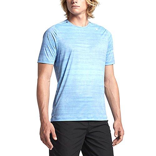 Hurley Mens Rash Guard (Hurley Dri-Fit Icon Print Surf Shirt - Men's Vivid Sky, L)