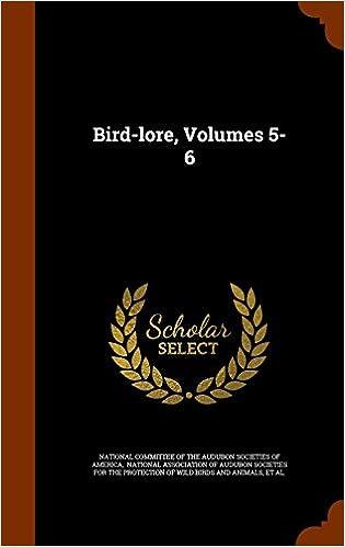Book Bird-lore, Volumes 5-6