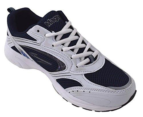 Schnürer Sportschuhe 45 weiß schwarz Blau Herren weiß Gr 40 blau Weiß C5gdCqw