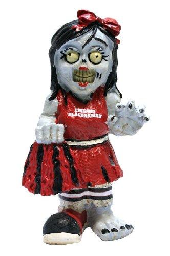 Forever Collectibles NHL Chicago Blackhawks Unisex Zombie Figurinezombie Cheerleader Figurine, Team Color, One Size (Figurine Cheerleader)