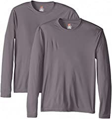 The Hanes Cool DRI t-shirt for men is a polyester performance tee that actually performs. Moisture-wicking technology keeps you cool and comfortable while a 50+ ultraviolet protection factor rating keeps you safe from harmful uv rays.