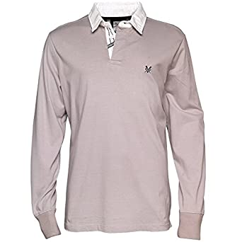 8a16ddc574b Mens Crew Clothing Mycroft Rugby Jersey Grey Marl Guys Gents (X-Large Chest  44