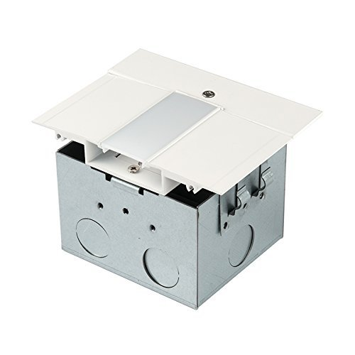 - WAC Lighting LED-T-RBOX1-WT InvisiLED Power Feed for Symmetrical Recessed Channel with Junction Box, White (Renewed)