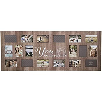 rustic collage picture frames Amazon.com: GALLERY SOLUTIONS Rustic 18 Opening Distressed You Are  rustic collage picture frames